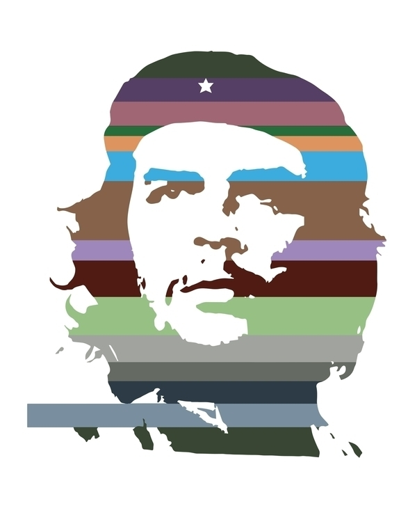 che,revolution,man,cuba,guevara,contemporary,modern,icon,celebrity,illustration,stripes - bernardojbp | ello