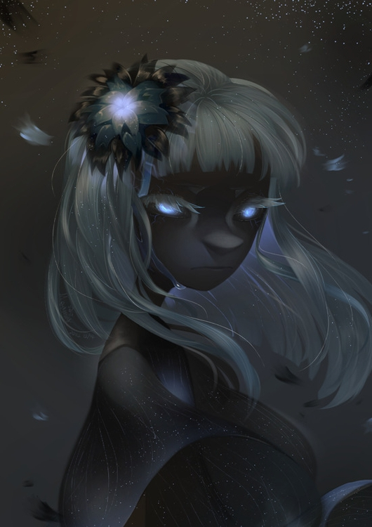 black flower - illustration, digitalart - meammy | ello