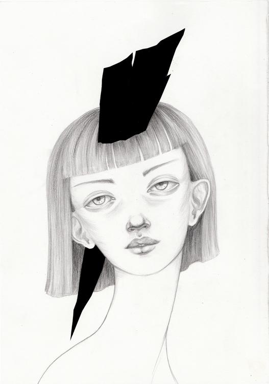 Nastya - illustration, portrait - shpadyreva | ello