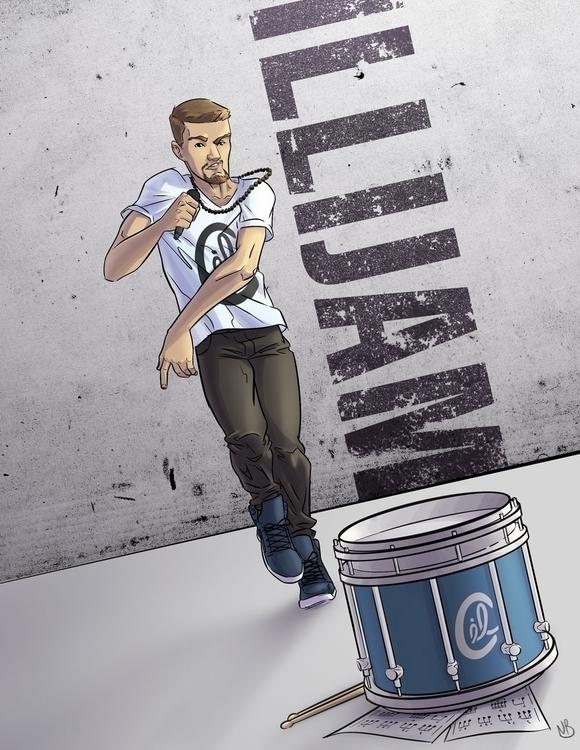 promo illustration rapper, Illi - natebowen-1441 | ello