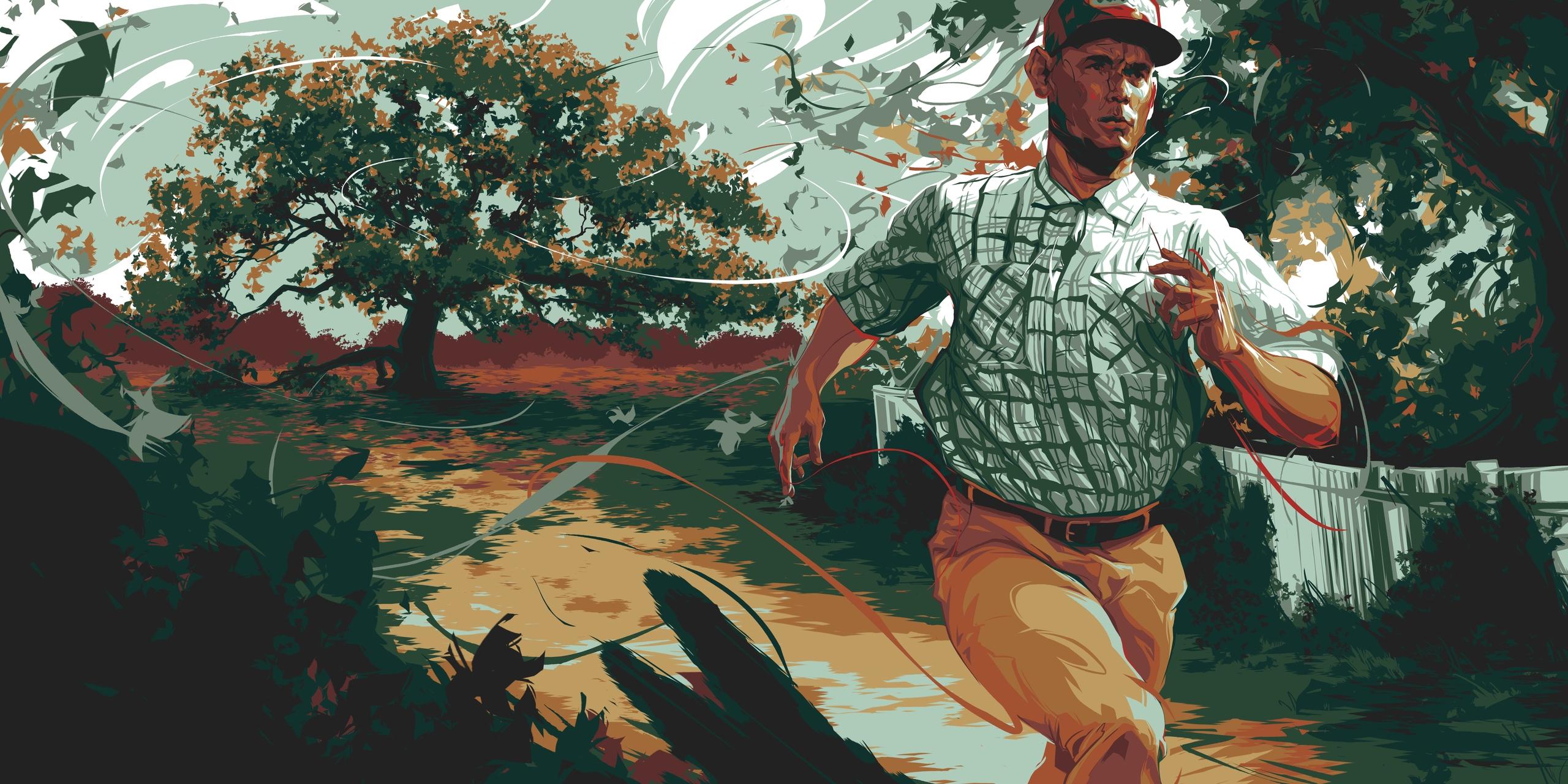 (Forrest Gump). illustration Ga - schmandrew | ello