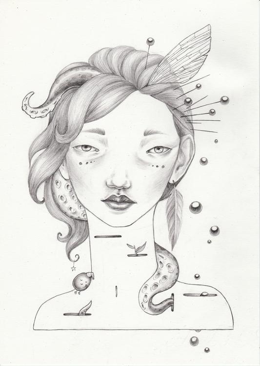Sleep - portrait, pencil, pencildrawing - shpadyreva | ello