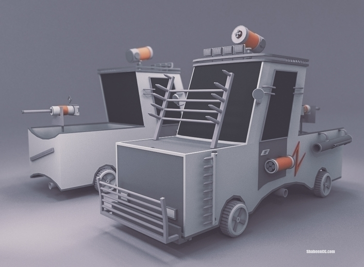 Defender Car - car, cartoon - shaheencg | ello