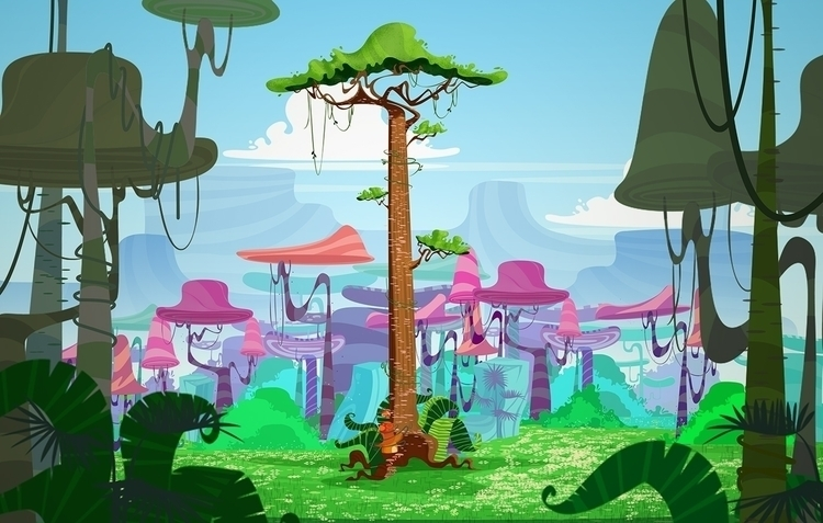 Jungle - animation, gameart, conceptart - somayeh-1319 | ello