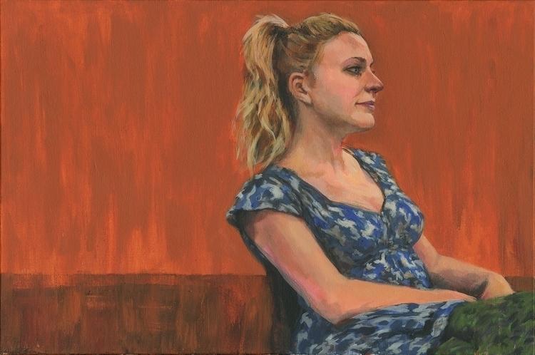 Sarah Acrylic canvas | 20 30 in - mattcauley | ello