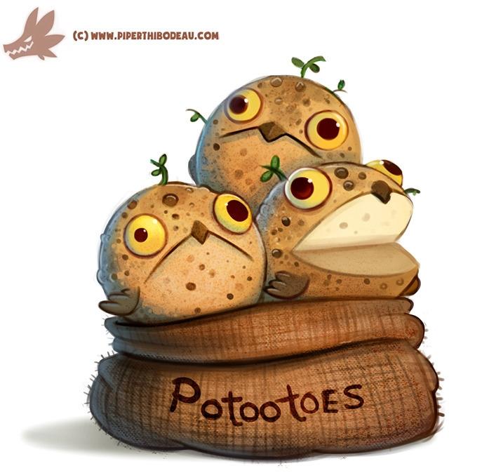 Daily Paint Potootoes - 1152. - piperthibodeau | ello