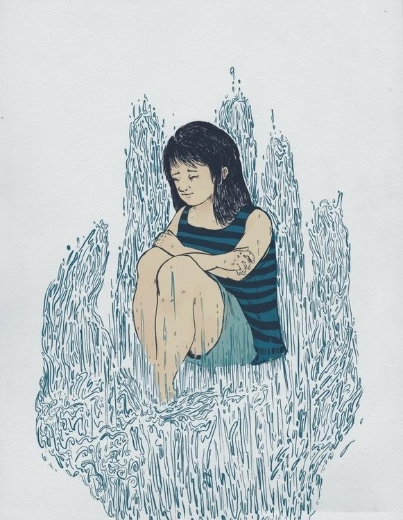 water (Ink Digital - illustration - mimonette | ello