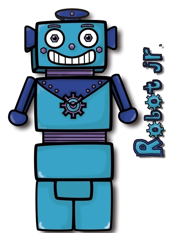 Robot Jr. Nuts Family - illustration - linalejandrapm | ello