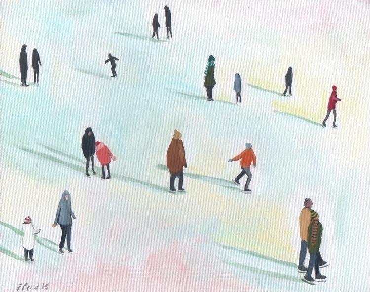 Folkart, Painting, Iceskating - jenniferpease | ello