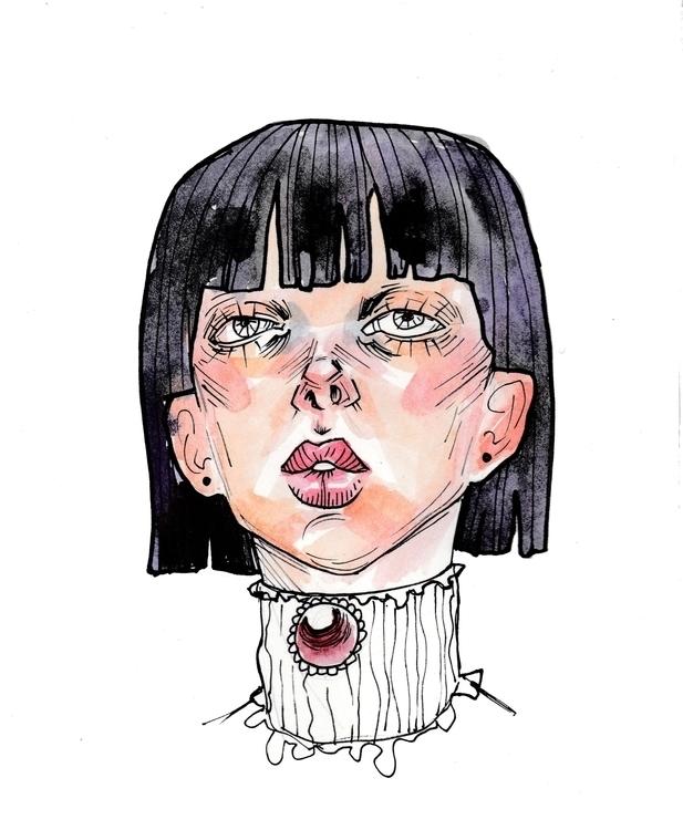 Tanya - watercolor, portrait, aquarelle - shpadyreva | ello