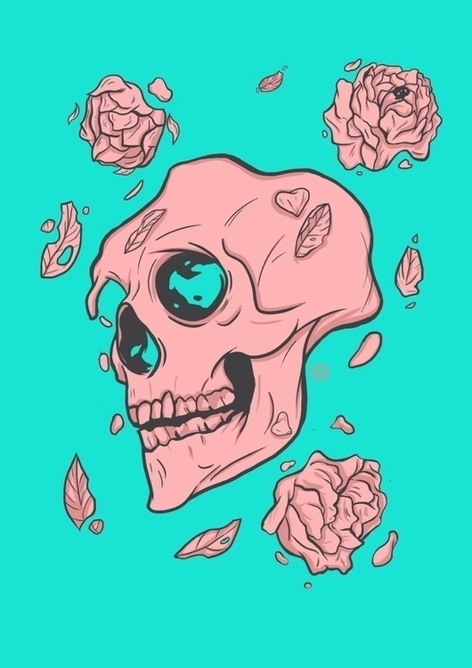 Sweet dream - skull, skeleton, autumn - theroyalbubblemaker | ello