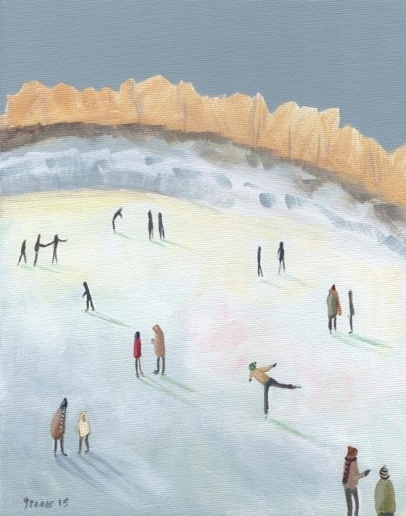 folkart, illustration, iceskating - jenniferpease | ello