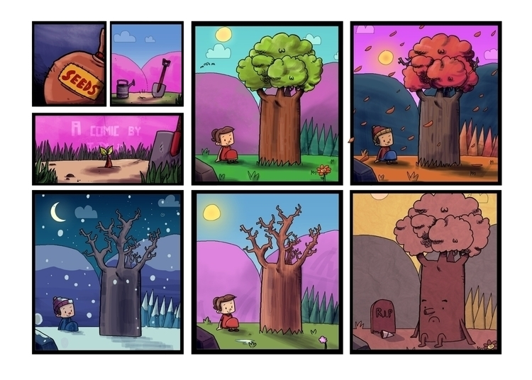 comic, tree, life - indiana_jonas | ello