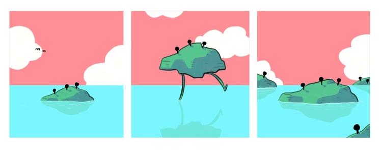 Lonely island - comic, ocean - indiana_jonas | ello