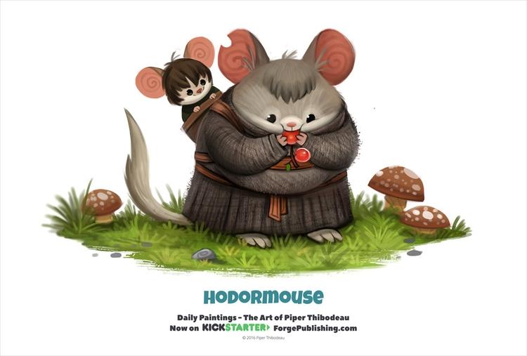 Daily 1329. Hodormouse - piperthibodeau | ello