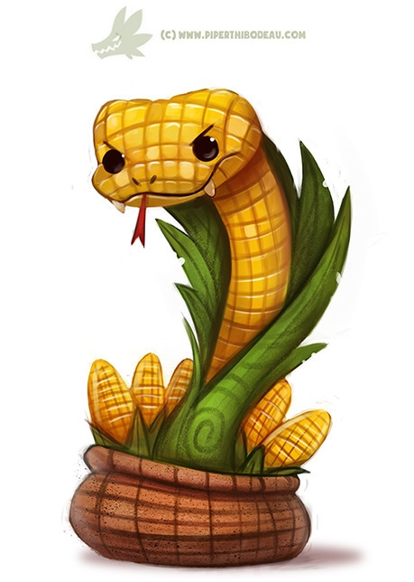 Daily Paint Corn Cobra - 1172. - piperthibodeau | ello