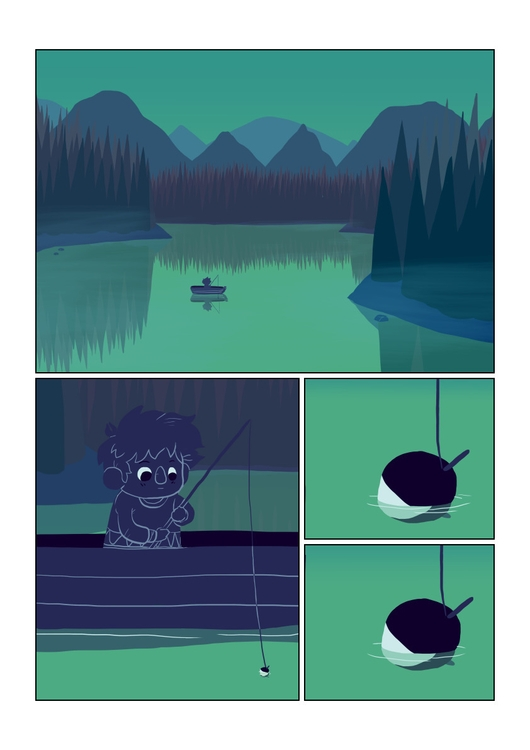 page 1 - wanderer, comic, fishing - indiana_jonas | ello