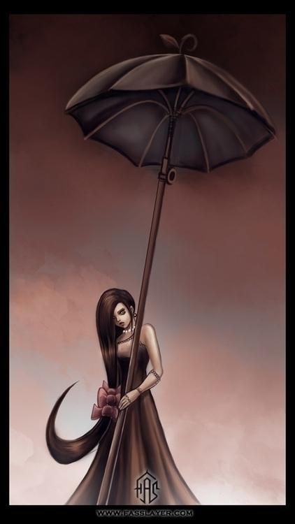 Digital illustration - umbrella - fasslayer | ello
