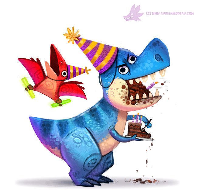 Daily Paint Birthdaysaurus - 1087. - piperthibodeau | ello