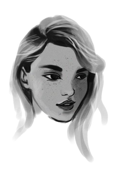 girl, portrait, illustration - keit | ello