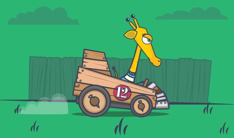 Gilda Wooden Cart. created elem - danperin | ello