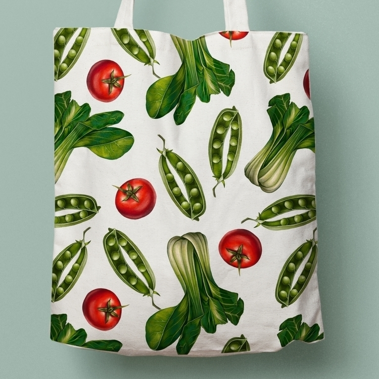 vegetables pattern - digital, illustration - zizilka | ello
