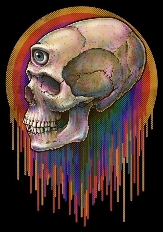 Winya 45 - illustration, skull - winya | ello