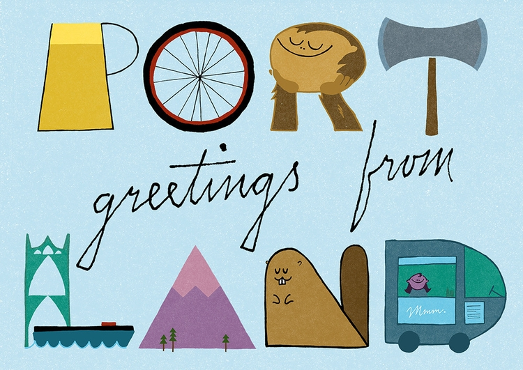 portland, lettering, illustration - buchino-1190 | ello