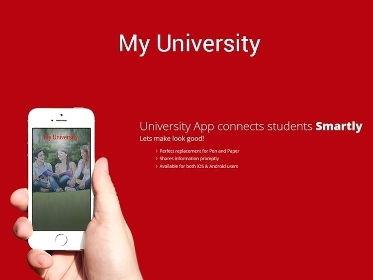 University App - illustration, design - nztsolutions | ello