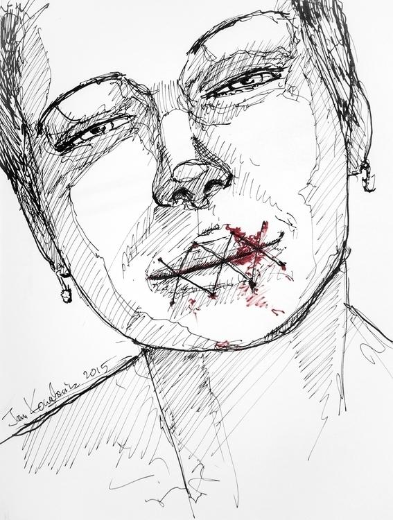 told shut Ink paper. 18 24,4cm - jandraws | ello