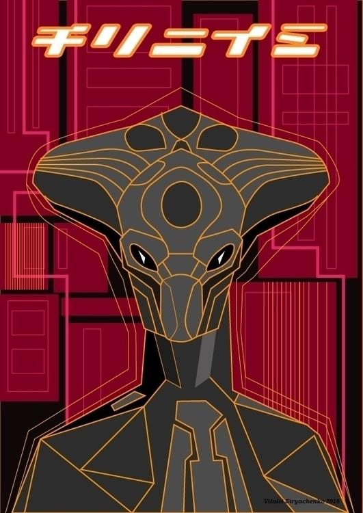 Alien - illustration, painting, drawing - vitalic-1248 | ello