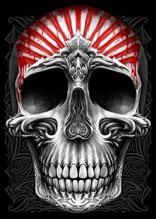 Winya 53 - skull, illustration - winya | ello