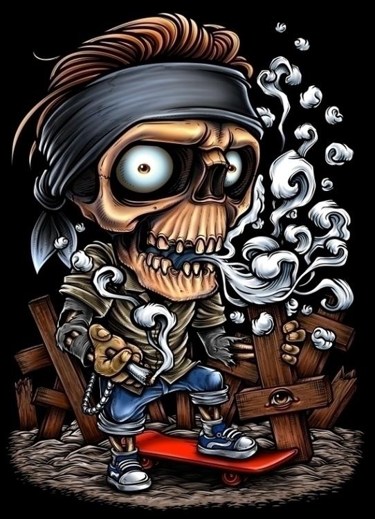 Winya 56 - skull, illustration - winya | ello