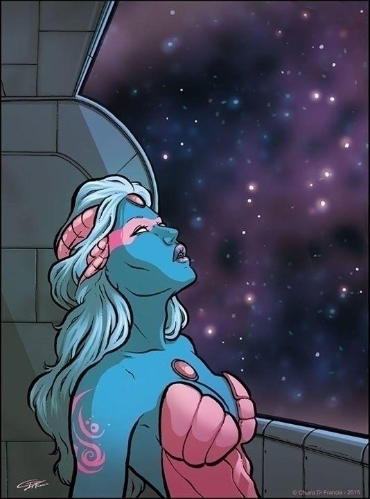 Alien Woman - illustration, characterdesign - chiaradifrancia | ello