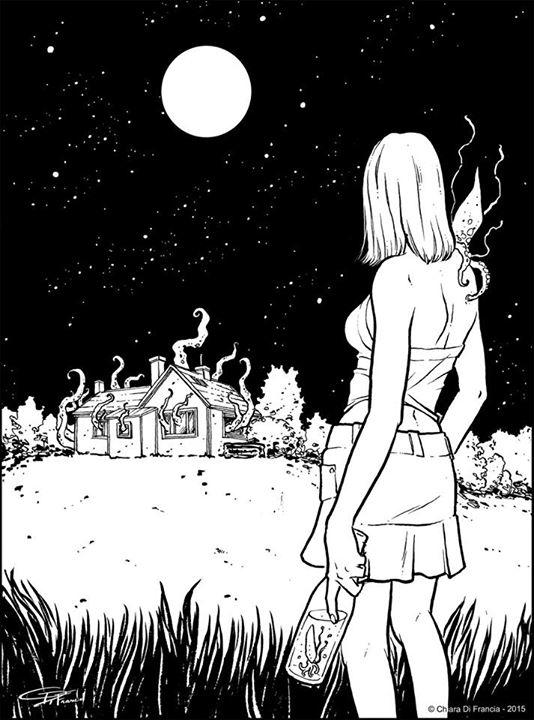 illustration realized Lovecraft - chiaradifrancia | ello