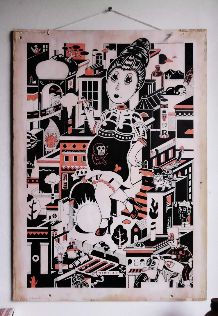 Creme Noir - illustration - 1upnimrod | ello
