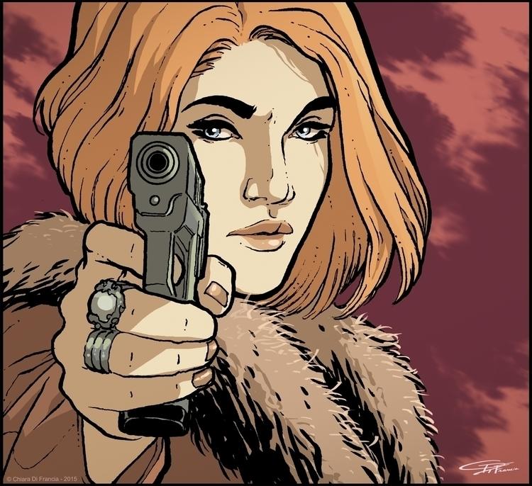 Spy Woman - illustration, characterdesign - chiaradifrancia | ello