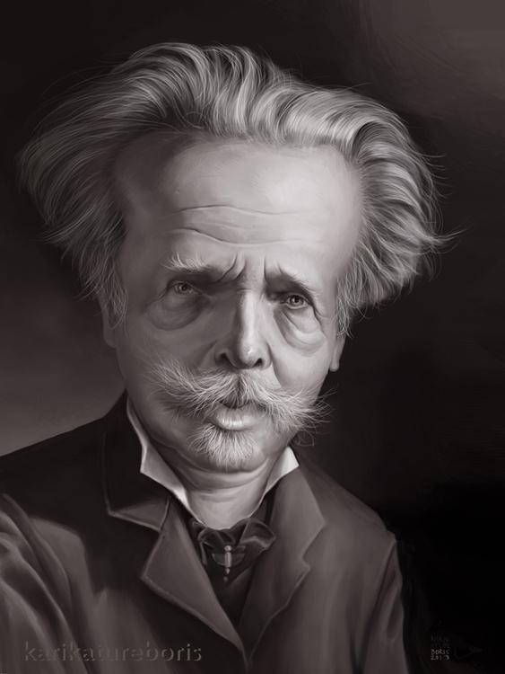 Karl writer - caricature, caricatures - karikatureboris   ello