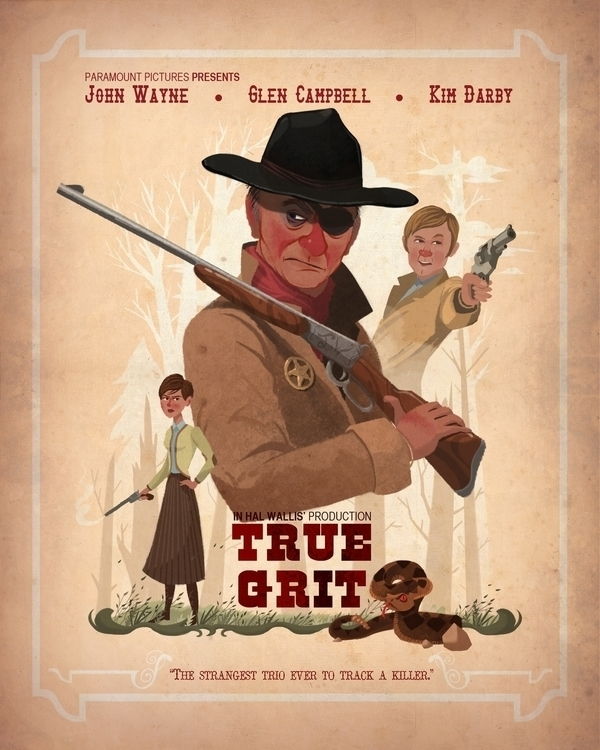 True Grit - illustration, truegrit - spencerepps24 | ello