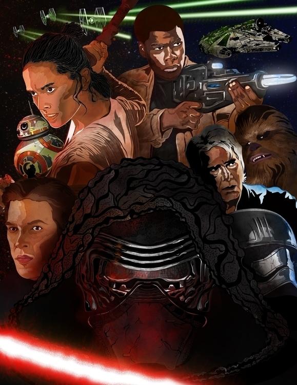 Star Wars Force Awakens - illustration - karylnerona | ello