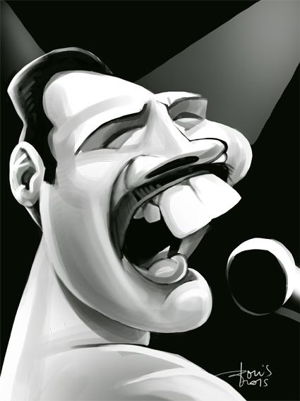freddy - caricature, caricatures - karikatureboris   ello