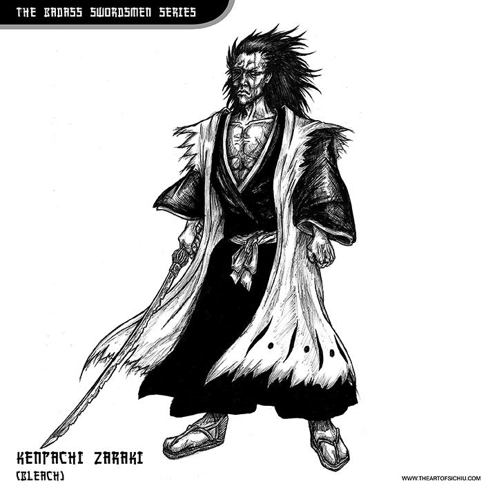 Kenpachi Zaraki (Bleach - illustration - theartofsichiu | ello