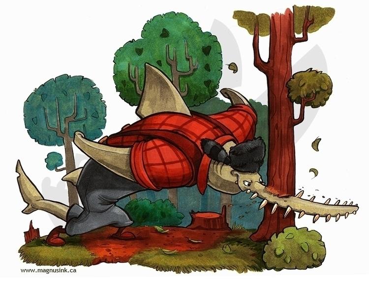 Sawfish Lumberjack - anthro, sawfish - magnus-1542 | ello