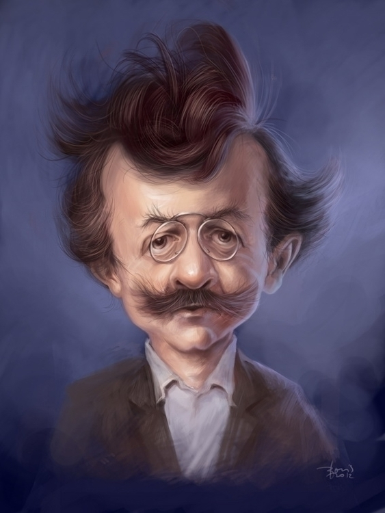Anton Azbe, slovenian painter - caricature - karikatureboris | ello