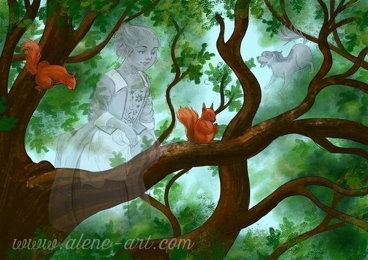 Mariella Verity - squirrels - illustration - aleneart | ello