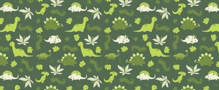 Tiny Dinos - dinosaur, pattern, patterndesign - lauraillustrates | ello