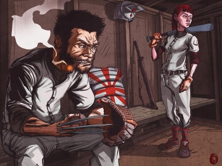 Wolverine - illustration, fanart - wmyeong | ello