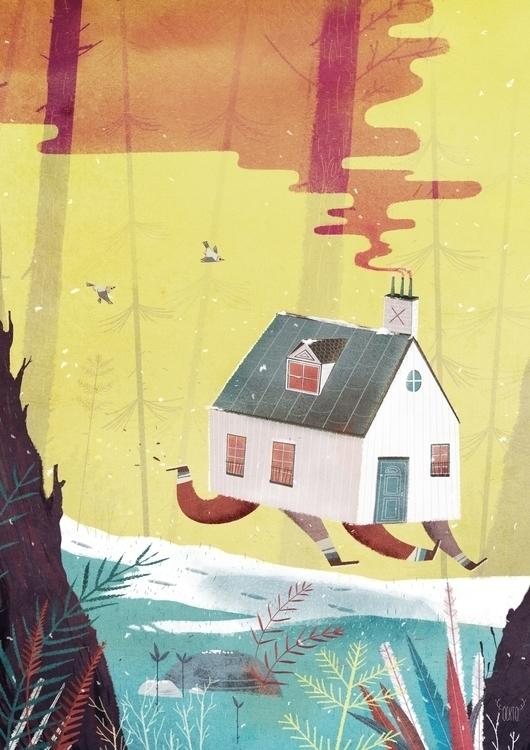 La maison qui court - illustration - ockto | ello