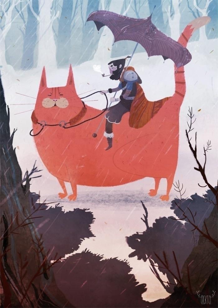 passager - illustration, cat, öckto - ockto | ello