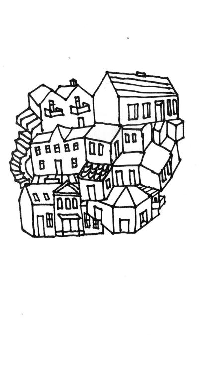Imaginary houses. Scans sketchb - kejto   ello